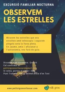 EXCURSIÓ NOCTURNA: OBSERVEM LES ESTRELLES @ Dolmen Roca d'en Toni