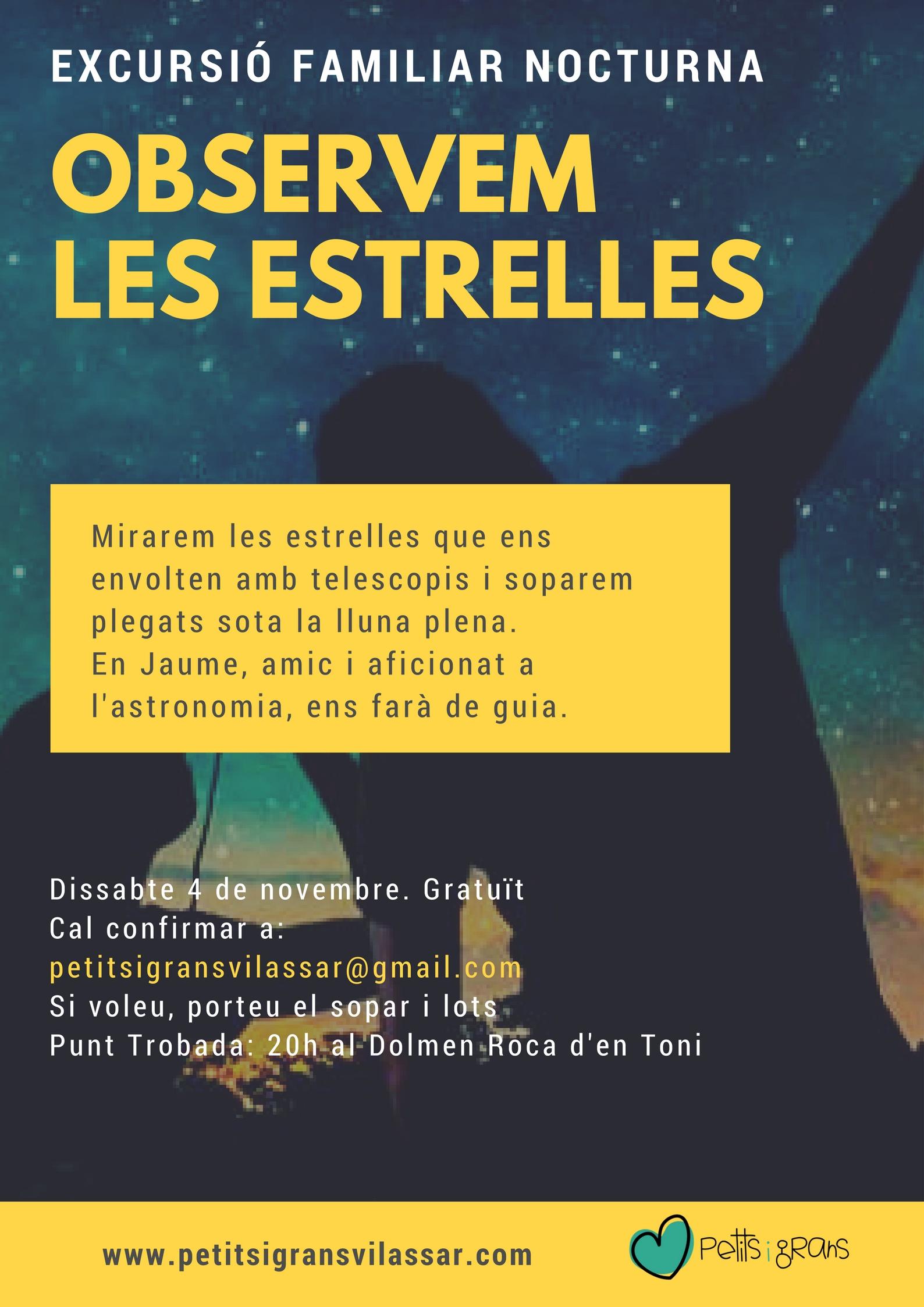 EXCURSIÓ NOCTURNA ESTRELLES