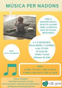 Tallers de música per nadons @ PetitsiGrans Vilassar